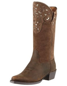 Ariat Youth Hacienda - Distressed Brown cowboy boot