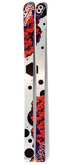 Coreupt Asention 2012, Adrien Coirier's pro model, big mountain skis with flat tail  http://www.coreupt.fr/buy-ski/asention