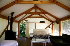 Luxury tent in bush clad setting 200m from beach in Orapiu, Waiheke Island | Bookabach