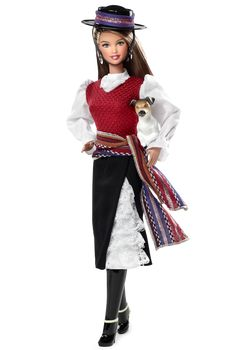 Chile Barbie Doll - Dolls of the World - South America Collectible Doll | Barbie Collector https://www.youtube.com/watch?v=3w6In13RJCs