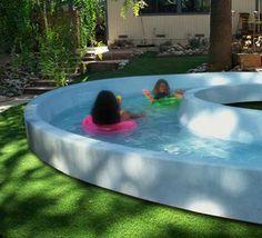 New backyard hot tub ideas diy water features Ideas Lazy River Pool, Backyard Lazy River, Hot Tub Backyard, Backyard Playground, Backyard Patio, Backyard Landscaping, Backyard Splash Pad, Luxury Landscaping, Backyard Projects