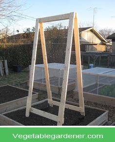 Garden trellis ideas for a vegetable garden