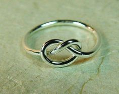 Sterling Love Knot Ring / Mother Daughter Ring / Best Friend Ring / Sisters Ring / Promise Ring