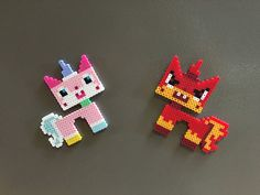 Unikitty Perler Magnets by GameCrafts on Etsy