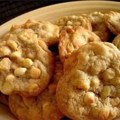 White Chocolate Macadamia Nut Cookies III Allrecipes.com. Tips from reviews: Mix/fold dough by hand, don't over soften butter, chill dough for a few minutes before baking.