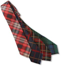 Retro plaid skinny ties.