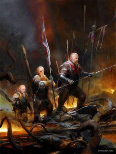 Dwarven Adventurers by joewardart on DeviantArt