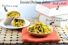Curried Chickpea Salad: Easy vegetarian dinner!