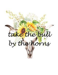 Take the bull by the horns! Bull Skulls, Cow Skull, Skull Wallpaper, Bull Riding, Water Slides, Reno, Cricut Design, Country, Wild Flowers