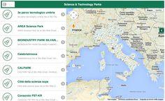 Mappa parchi scientifici