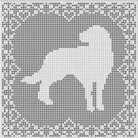Cross Stitch Patterns - Dogs - LABRADOR RETRIEVER DOG FILET CROCHET PATTERN Picture