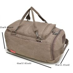 Men Women, Canvas Multifunctional Big, Travel Outdoor Portable, Shoulders Crossbody bag Backpack