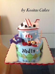 Photo 1 of 1 50th Birthday, Birthday Cake, Birthday Ideas, Fondant, Skydiving, Birthdays, Cake Ideas, Planes, Desserts