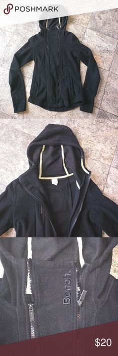Bench hooded fleece jacket Hooded zip up fleece jacket with pockets and thumbholes, lightly worn Bench Jackets & Coats