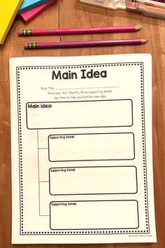 Reading Graphic OrganizersYou can find Graphic organizers and more on our website. Reading Comprehension Skills, Reading Skills, Teaching Reading Strategies, Reading Fluency, Teaching Ideas, Reading Response, Reading Intervention, 5th Grade Reading, Reading School