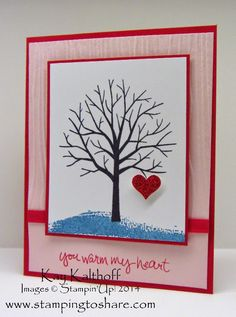 Sheltering Tree with Heart and a How To Video, Kay Kalthoff, Stamping to Share, Stampin' Up!, 2015 Occasions Mini