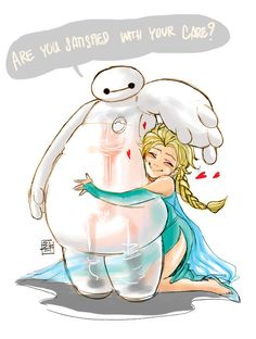 Elsa loves Baymax <3