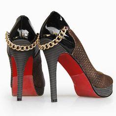 Christian Louboutin chain detail shoes #heels