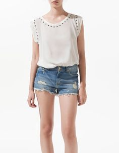 T-SHIRT WITH LACE BACK - Woman - New this week - ZARA United States