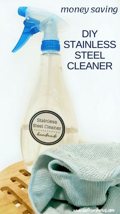 Diy cleaners 606086062336765711 - Ditch the chemicals and expense of store bought stainless steel cleaner & easily make your own using natural ingredients. DIY Stainless Steel Cleaner cost pennies and works great! Homemade Stainless Steel Cleaner, Cleaning Stainless Steel Appliances, Cleaners Homemade, Diy Cleaners, House Cleaning Tips, Cleaning Hacks, Homemade Cleaning Supplies, Natural Cleaners, Natural Cleaning Products