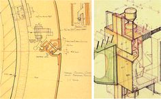 Phil Bonzon's sketches for the HSBC facade design (Foster & Partners). These details prefigure many industry design features by at least ten years.