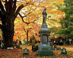 Mt. Auburn Cemetery, Cambridge, MA  One of my favorite places to be is a old historic cemetery in New England during the Autumn.