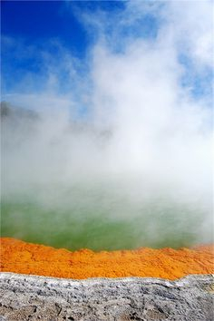 The Hot Champagne Pool in New Zealand | Read More Info
