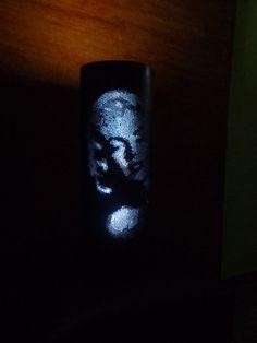 Arte em pvc...luminária (39X15)