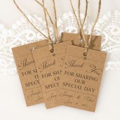 vintage themed wedding favor tags thank you cards EWFR025 as low as $0.32 |