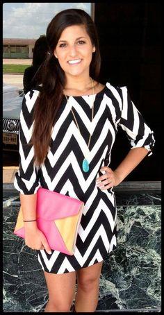 Chevron dress! Black & white yep I want this dress
