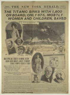 Reporting on the Titanic disaster    #ancestry #titanic