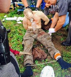David Sweat after being shot and captured by police in Constable, NY on June 28, 2015   -   © WWNY