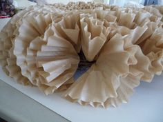 Coffee Filter wreath: tutorial