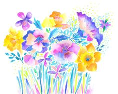 """Vibrant Floral II"""