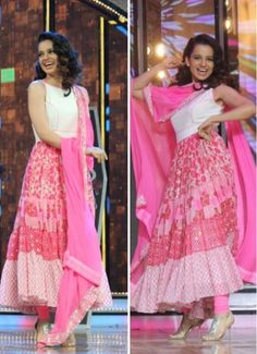 Image result for Kangana Ranaut anarkali pink