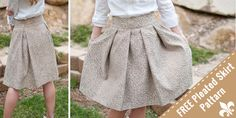 5 Free Skirt Patterns include: A-line Skirt, 60s Style Flared Skirt, Knee-length Wrap Skirt, Layered & Frilled Skirt and a Pleated Skirt with Wide Waistband