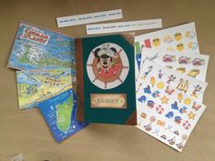 How to Make a Kids' Passport Scrapbook for Vacation- step by step, plus good ideas