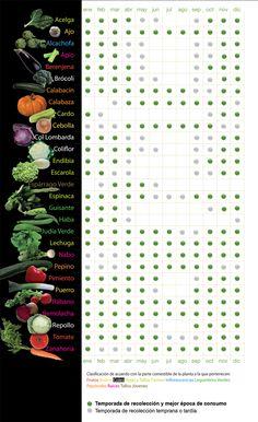 calendario temporada de verduras