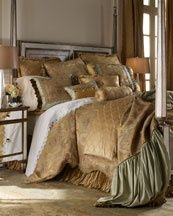 """""""Le Jardin"""" Bed Linens Dian Austin Designer- Horchow..."""