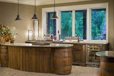 Wine barrel table this would b perfect for a crawfish for Furniture 08054