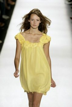 BCBG MAX AZRIA Runway 100% Cotton SWISS DOT Embellished Yellow DRESS-Bubble-M!!! #QFClothing #BCBGMaxAzriaRUNWAY #NYFW Stores.ebay.com/QFClothing