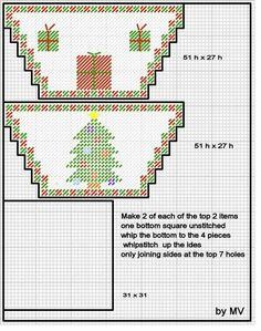 Plastic Canvas Ornaments, Plastic Canvas Crafts, Plastic Canvas Patterns, Christmas Items, Christmas Crafts, Plastic Baskets, Plastic Canvas Christmas, Bargello, Needlepoint