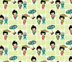 Wee Are the World: Sushi fabric by sheri_mcculley on Spoonflower - custom fabric