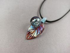 Purple Glass, Leaf Pendant, Unique Necklaces, Shades Of Purple, Hand Blown Glass, Glass Pendants, Necklace Lengths, Opal