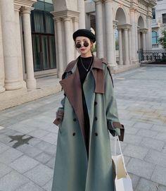 Fashion Coat, Women's Fashion, Wool Coats, Plus Size Coats, Office Ladies, Mid Length, Winter Coat, Coats For Women, Trench