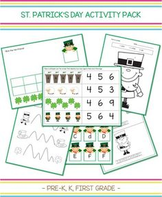St. Patrick's Day Activity Pack (+60 pages)