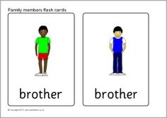 Family members flash cards (SB9287) - SparkleBox