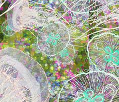 jellies_in_an_amazing_sea_6 fabric by greenlotus on Spoonflower - custom fabric