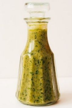 Basil Vinaigrette for Drizzling on Tomatoes