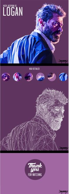 LOGAN / Hugh Jackman - Low poly digital portrait on Behance